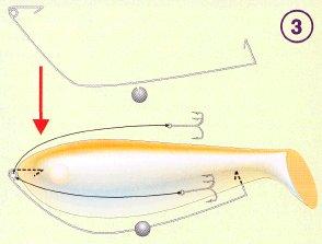 как оборудовать джиг-головку виброхвостом