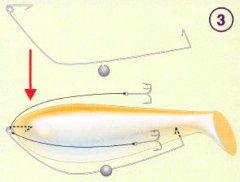 Использование виброхвоста без джиг-головки