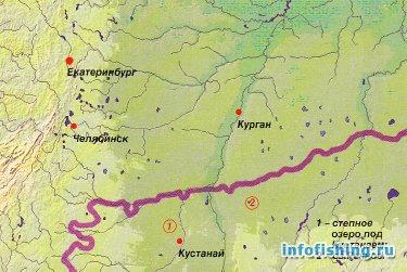 казахстан рыбалка карта
